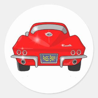1964 Chevrolet Corvette Stingray Classic Round Sticker