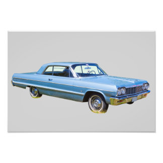1964 Chevrolet Impala Antique Car Photo Print