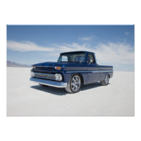 1964 chevy c10 pickup hot rod truck poster