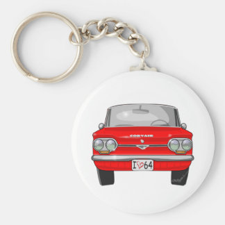 1964 Corvair Front View Keychain