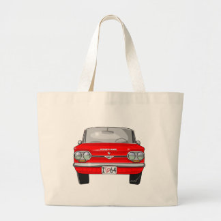 1964 Corvair Front View Large Tote Bag