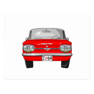 1964 Corvair Front View Postcard