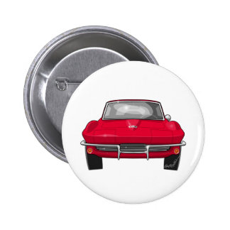 1964 Corvette Stingray Front Pinback Button