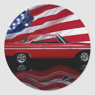 1964 Dodge Polara 500 Tribute Classic Round Sticker