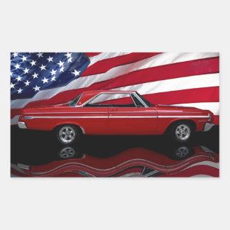 1964 Dodge Polara 500 Tribute Rectangular Sticker