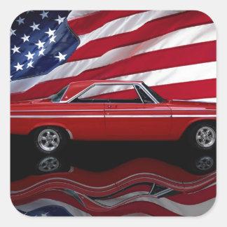 1964 Dodge Polara 500 Tribute Square Sticker