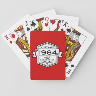1964 envejecido a la perfección baraja de cartas