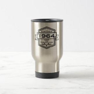 1964 envejecido a la perfección taza de viaje de acero inoxidable