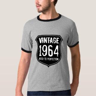 1964 envejecido cumpleaños de la camiseta el   de polera