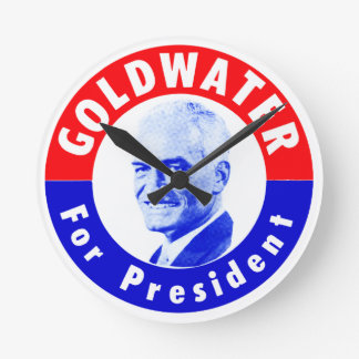1964 Goldwater for President Round Wall Clocks