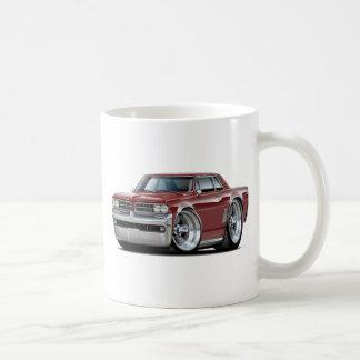 1964 GTO Maroon Car Classic White Coffee Mug