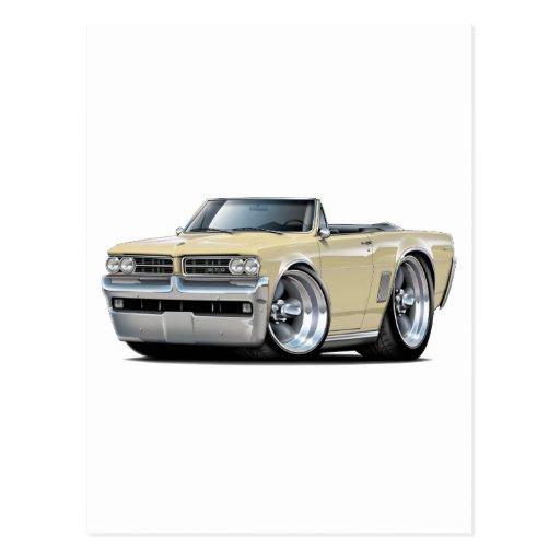1964 GTO Tan Convertible Postcard