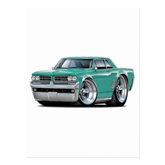 1964 GTO Teal Car Postcard