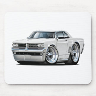 1964 GTO White Car Mouse Pad