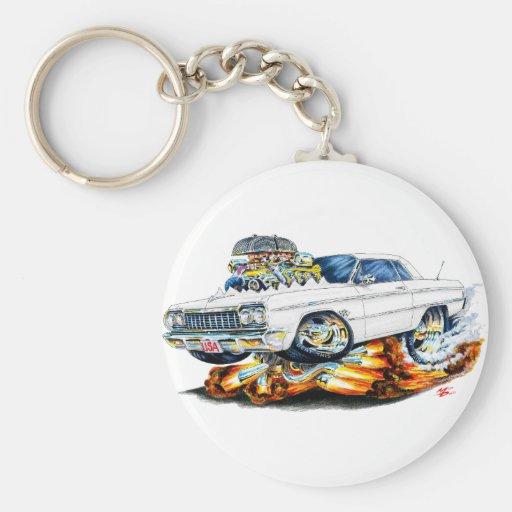 1964 Impala White Car Key Chains