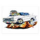 1964 Impala White Car Post Card