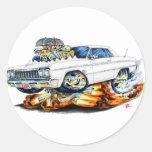 1964 Impala White Car Round Sticker