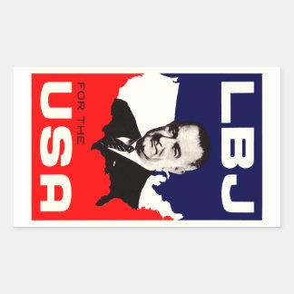 1964 LBJ para los E.E.U.U. Rectangular Pegatina