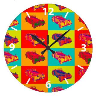 1964 Morgan Plus 4 Convertible Pop Art Large Clock