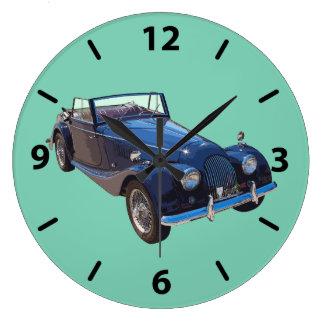 1964 Morgan Plus 4 Convertible Sports Car Large Clock