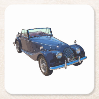 1964 Morgan Plus 4 Convertible Sports Car Square Paper Coaster