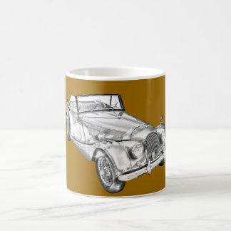 1964 Morgan Plus 4 Sports Car Illustration Coffee Mug