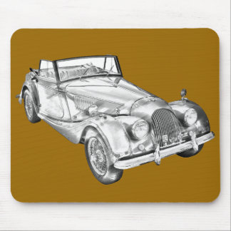 1964 Morgan Plus 4 Sports Car Illustration Mouse Pad