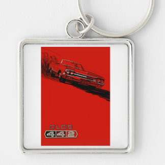 1964 Oldsmobile 442 poster reproduction Keychain