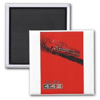 1964 Oldsmobile 442 poster reproduction Magnet