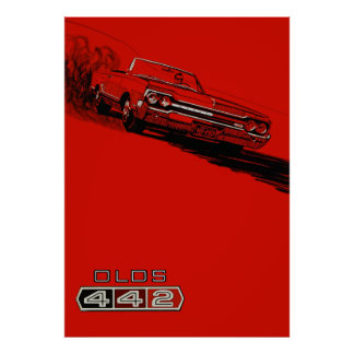 1964 Oldsmobile 442 vintage poster reproduction