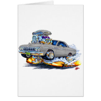 1964 Plymouth Grey Car Greeting Card