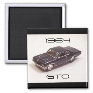 1964 Pontiac GTO 2 Inch Square Magnet