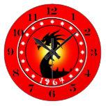 1964 Year of the Dragon Wallclock