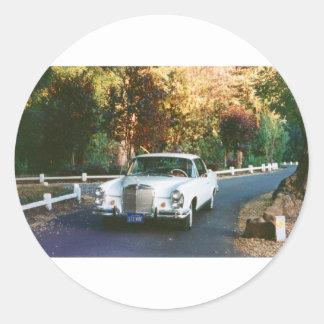 1965_220SEb_001  1965 Mercedes Benz 220SEb coupe Classic Round Sticker
