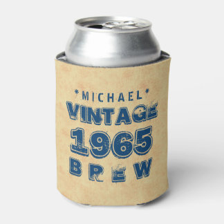 1965 50th or Any Birthday VINTAGE BREW Gold J30CZ Can Cooler