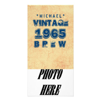 1965 50th or Any Birthday VINTAGE BREW Gold J30CZ Photo Card