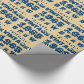 1965 50th or Any Birthday VINTAGE BREW Gold J30CZ Wrapping Paper