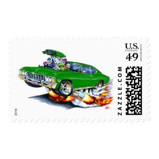 1965-66 Impala Green Car Postage Stamp