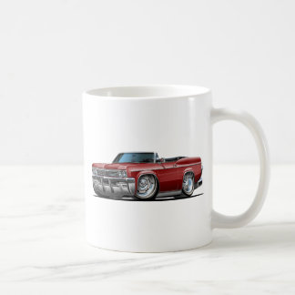 1965-66 Impala Maroon Convertible Classic White Coffee Mug