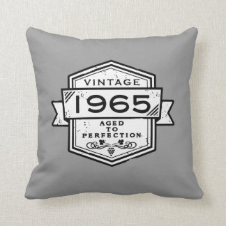 1965 Aged To Perfection Throw Pillow