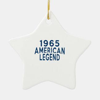 1965 American Legend Birthday Designs Ceramic Ornament