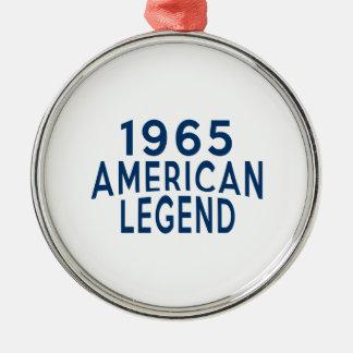 1965 American Legend Birthday Designs Metal Ornament