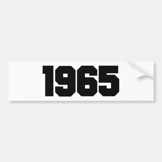 1965 BUMPER STICKER