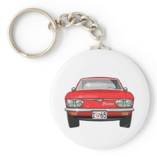 1965 Chevrolet Corvair Front View Keychain