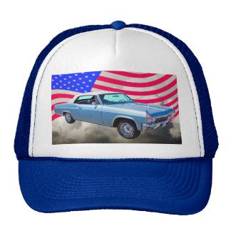 1965 Chevy Impala 327 With American Flag Trucker Hat