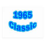 1965 Classic Blue Post Card