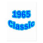 1965 Classic Blue Postcard