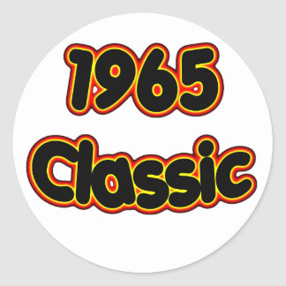1965 Classic Classic Round Sticker