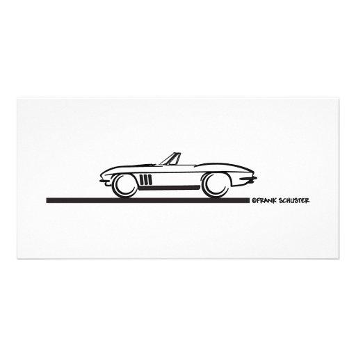 1965 Corvette Convertible Photo Card