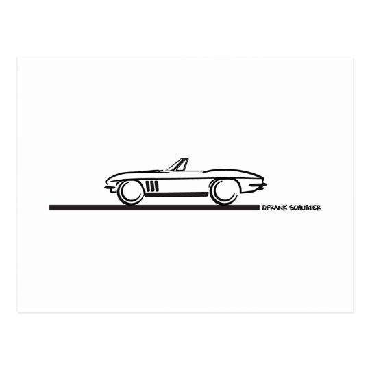 1965 Corvette Convertible Postcard